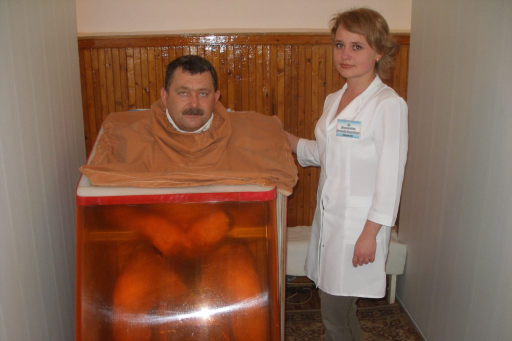 сухі радонові ванни
